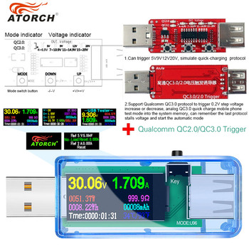 13 IN 1 Digital Display USB Tester Current Voltage Charger Capacity Doctor power bank Battery meter Detector+qc2.0/3.0 Trigger usb charger doctor battery tester power detector voltage current meter measurement instruments bs