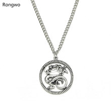 mulan level 6 2020 New Mulan Movie Fashion Pendant Necklace Chinese Dragon Gold Silver Color Chain Jewelry For Woman And Man Mulan Necklace