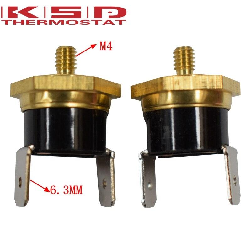 Hd266be2695de46afb3d32a3785145483K - 2PCS KSD301 M4 Copper Screw Bimetal Thermostat Bimetallic Disc Thermostat 40C/50C/65C/70C/75C/80C/90C/100C/120C/130C/150C