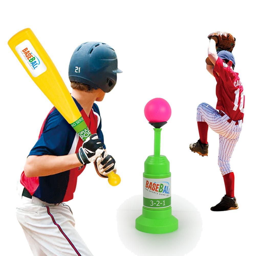 Funny Children Outdoor Sports Training Automatic LauncherBaseball Bat Toys Set Children Transmitter Baseball Game Toy Gift