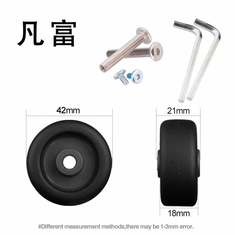 Luggage Replacement Wheels Luggage Roller Casters Flexible Rotation Suitcase Accessories Repair  Luggage Suitcase Fitting Wheels