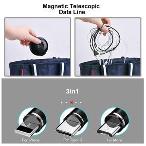 Image 5 - Oatsbasf Magnetische Kabel Type C Usb Voor Xiao Mi Mi 9 Mi Cro Usb kabel Magnetic Opladen Intrekbare Kabel Voor iphone Huawei Samsung