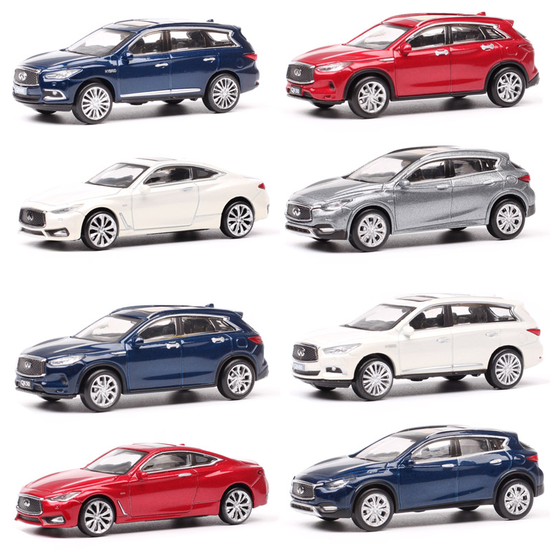 1/64 Scale Mini Paudi Infiniti Qx60 Qx50 Qx30 Q60 SUV Luxury Crossover Coupe Diecast & Vehicles Model Car Toy Gift For Collector