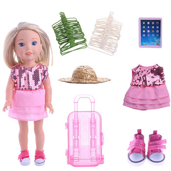 Pink sequined skirt Doll Clothes Accessories 5 Cm Doll Shoes For 14.5 Inch Wellie Wisher&Nancys&32-34 cm Paola Reina Russian Toy image