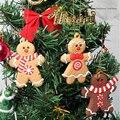 12 шт./компл. и пряничным человечком елочные украшения Xmas деревья подвесной кулон на Новый год и Рождество, украшение дома подарки 7,5 см