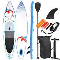 SUP335 Stand up Paddle Board 335x74x15cm, blue / red SUP, surfboard, surf board inflatable & easy to transport,