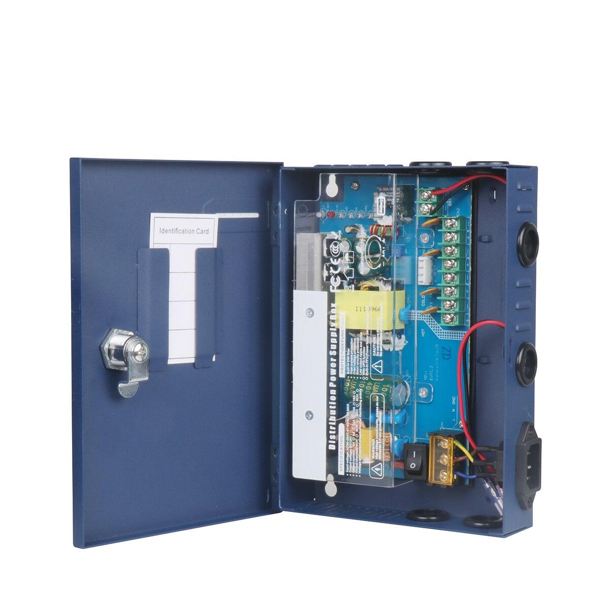 Input 100-240V 4 CH 60W 12V DC 5A Output Boxed Power Supply CCTV