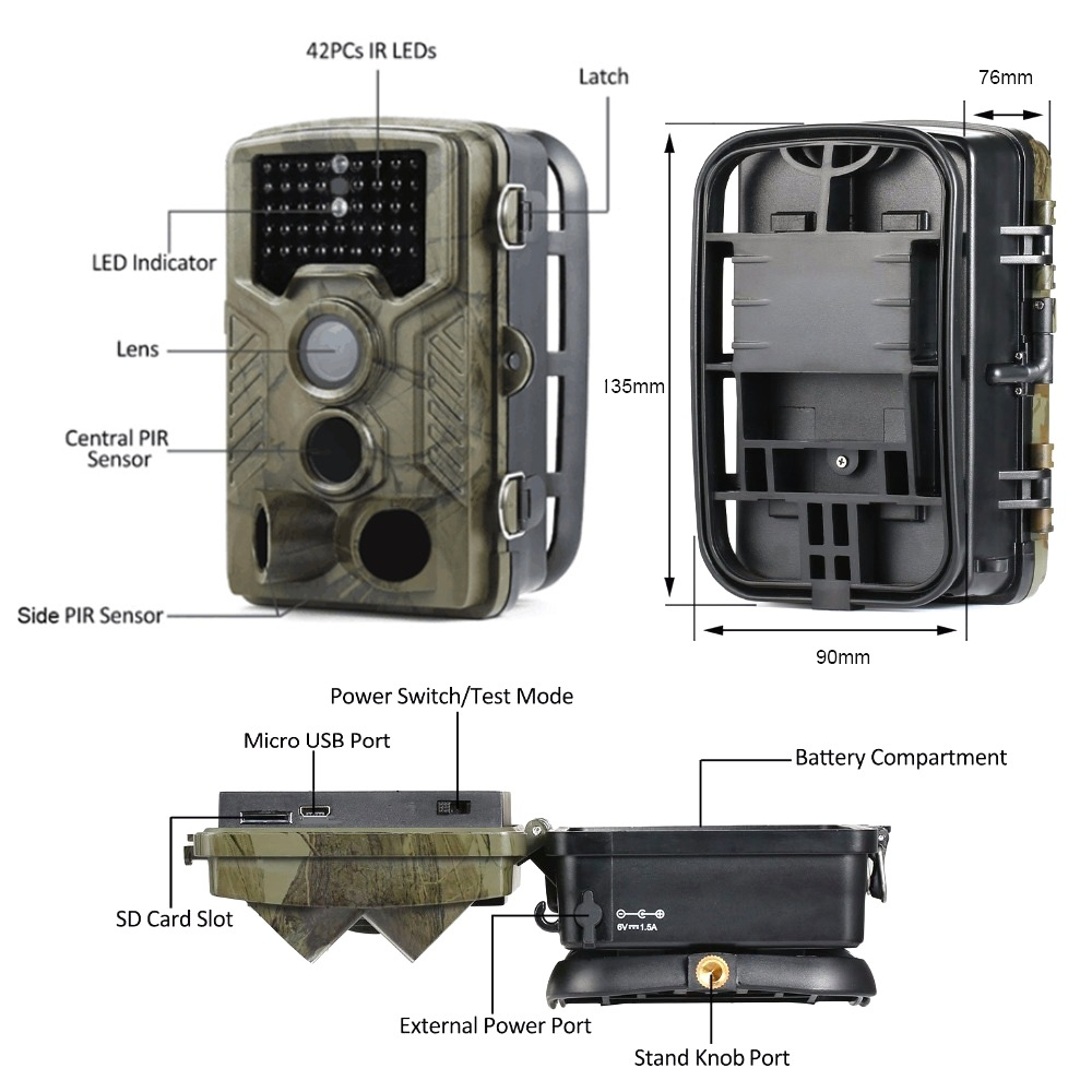 1080 p digital scout floresta selvagem câmeras