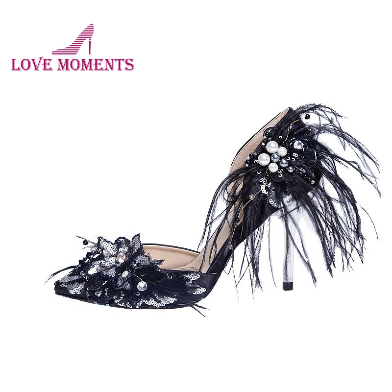 Gorgeous Black Color Banquet Party Prom Pumps Pointed Toes Thin Heel Mother of the Bride Shoes Wedding Party Heels Women Pumps