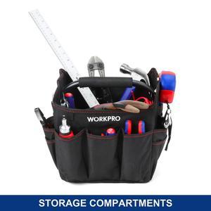Image 2 - Складная сумка для инструментов WORKPRO, маленькая ручная сумка на плечо, органайзер для инструментов, 10 дюймов