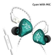 سماعات أذن داخلية KZ ZST X 1BA + 1DD, سماعات أذن KZ ZST X 1BA + 1DD داخل الأذن وحدة هجينة HIFI Bass Sports DJ سماعة أذن مع سماعات كابل مطلية بالفضة لـ ZST ZSN