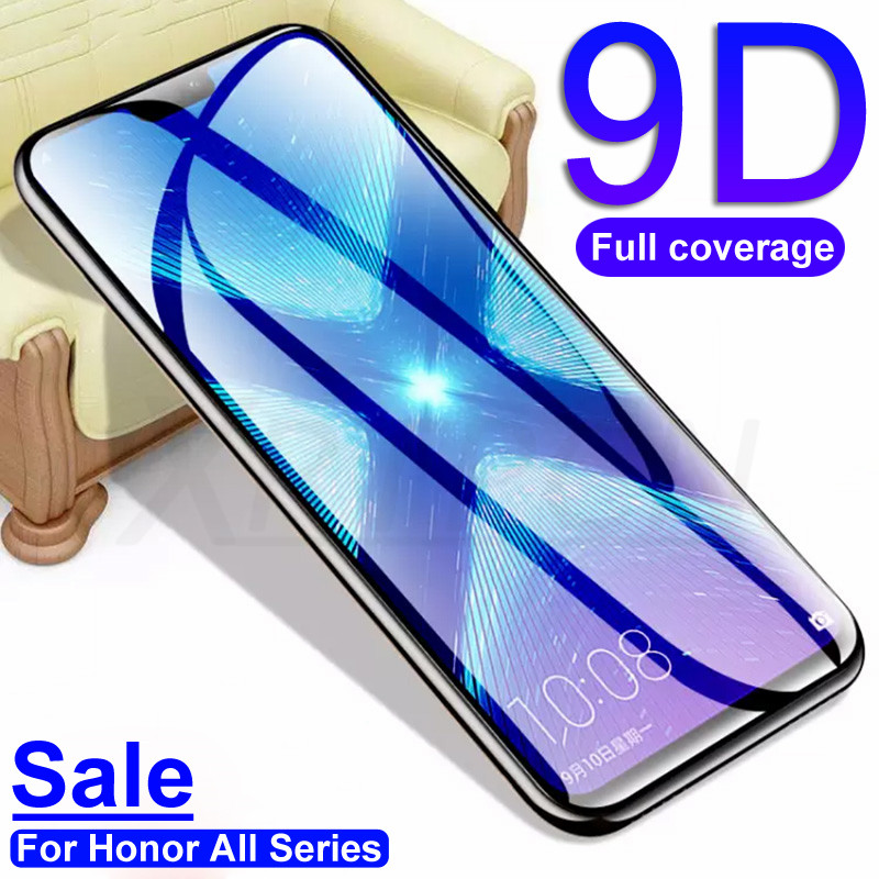 9D Protective Glass On The For Huawei Honor 8X 9X V20 V10 9i 10i 20i Screen Protector For Honor 9 10 20 Lite Tempered Glass Film