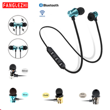 Earphones Bluetooth Wireless With Microphone Headphones Handsfree Headset  Neckband Sports Earphones For huawei Xiaomi Samsung tronsmart encore s2 plus bluetooth earphones ipx45 headphones waterproof earphones wireless bluetooth headset with neckband