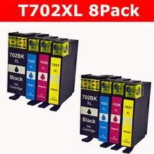 Сменный картридж для принтера для Epson 702XL 702 XL T702XL высокий выход для использования с рабочей силы Pro WF-3720 WF-3730 WF-3733 принтер