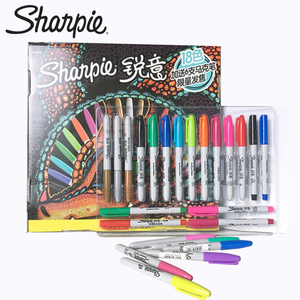 24pcs/set Sharpie Marker Pen Student Animation Design Art Hand-Painted Color Drawing Pen School Stationery Gift
