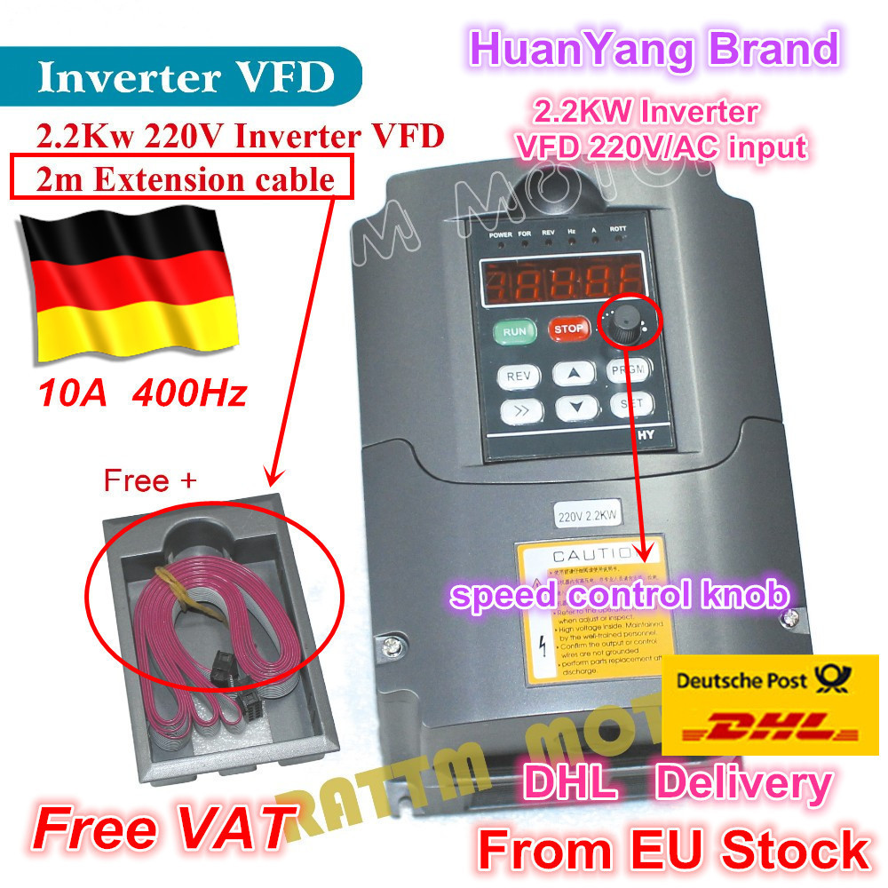 2019 NEW item <font><b>2.2KW</b></font> Variable Frequency Drive VFD <font><b>Inverter</b></font> 3HP 220V VSD for CNC router <font><b>Spindle</b></font> motor speed control image