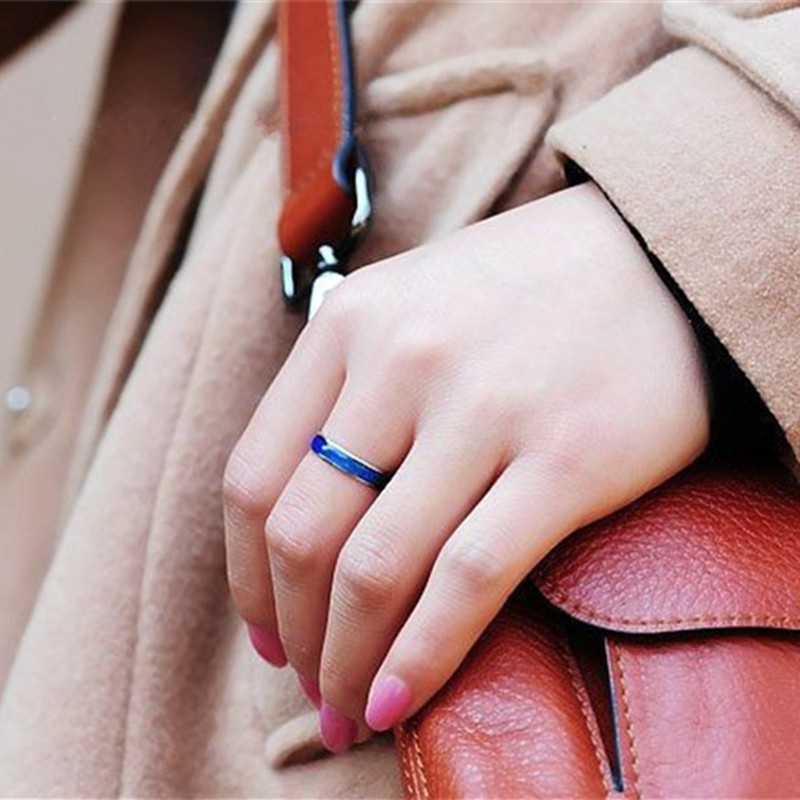 4MM Width Classic Temperature Change Color Mood Ring Hot Sale Jewelry Smart Discolor Rings Best Gift For Friends Free Shipping 3