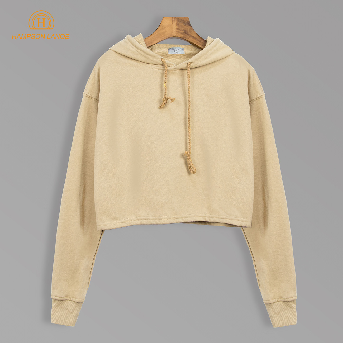 Autumn 2020 Cropped Cotton Solid Hoodies Women Short Style Sweatshirts Female Navy Blue Gray Orange Camel Turquoise Pullovers