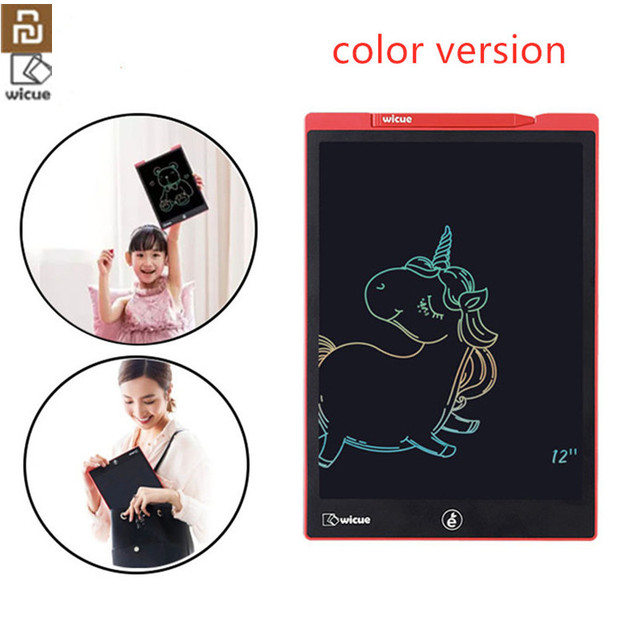ل شاومي Wicue 12 بوصة/10 بوصة LCD بخط اليد مجلس الكتابة اللوحي الرسم الرقمي تخيل الوسادة توسيع القلم ل mijia الاطفال