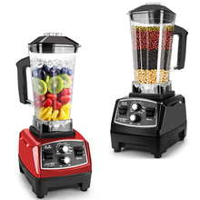 Licuadora licuadora comercial 3HP con temporizador, exprimidor de potencia, procesador de alimentos, batidora eléctrica de frutas, 2200W