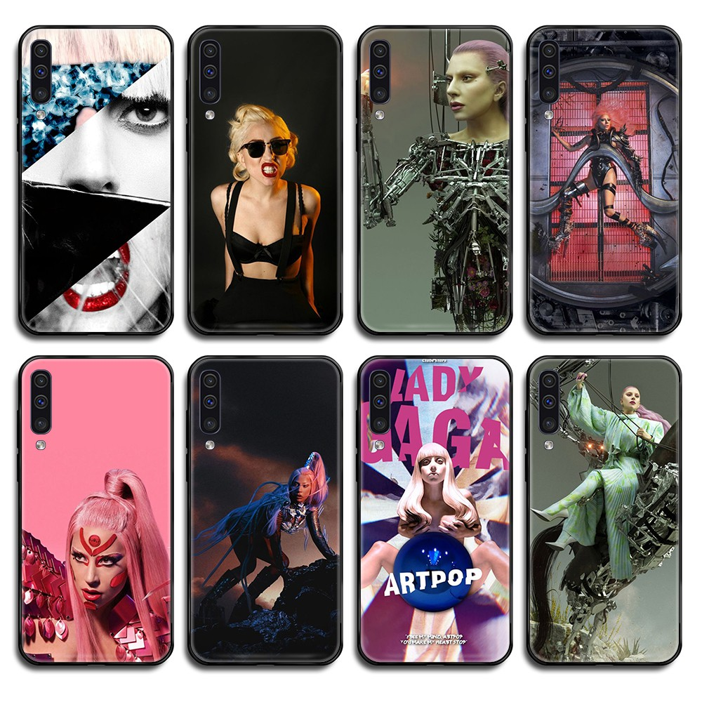 lady gaga chromatica silicone <font><b>hoesjes</b></font> cover black Phone case For <font><b>Samsung</b></font> Galaxy <font><b>A</b></font> C Note 3 4 5 6 7 8 10 20 <font><b>40</b></font> 50 70 E S Plus Pro image