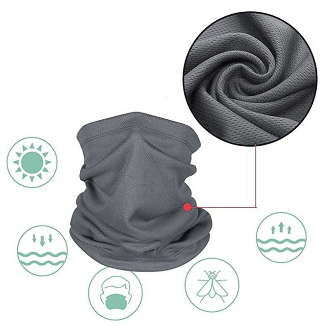 Cycling Outdoor Solid Color Scarf Men Women Sun Protection Bandana Neck Gaiters Riding Camping Scarf Activities Multi Function F 6