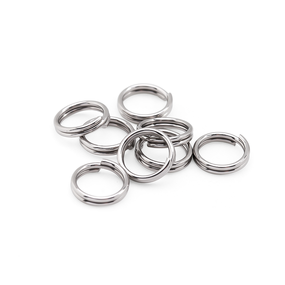 100pcs/lot 5 6 7 8 10 12mm Stainless Steel Double Jump Rings For DIY Key Chain Split Rings Connectors Jewelry Making Supplies