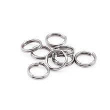 100pcs/lot 5 6 7 8 10 12mm Stainless Steel Double Jump Rings For DIY Key Chain Split Rings Connectors Jewelry Making Supplies(China)