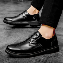 Mens pointed toe dress shoes classic derbies New italian oxford for men luxury mens patent leather wedding %B1022