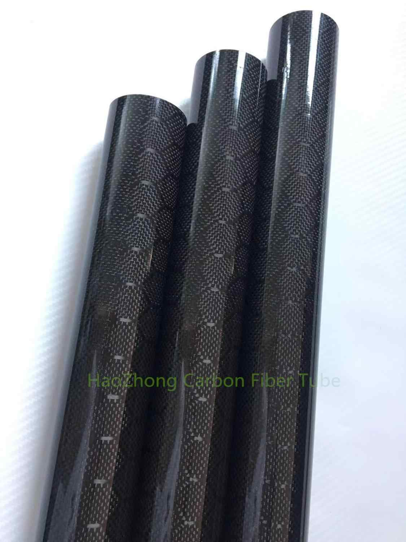 US WHABEST 1Pcs Carbon Fiber Tube 3k High Gloss 25mm OD x 22mm ID X 1000MM Long Roll Wrapped //Tubing//Pipe//Shaft