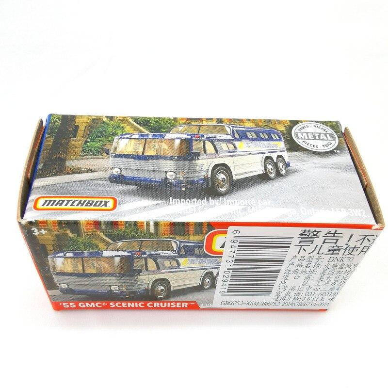 2019 Matchbox Cars 1:64 Car 55 GMC SCENIC CRUISER Metal Diecast Alloy Model Car Toy Vehicles