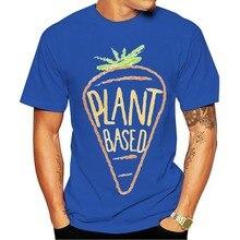 2021 moda lazer 100% algodão o-pescoço t-shirts vegan e planta baseada para uma cenoura inclinadas purificado dos homens