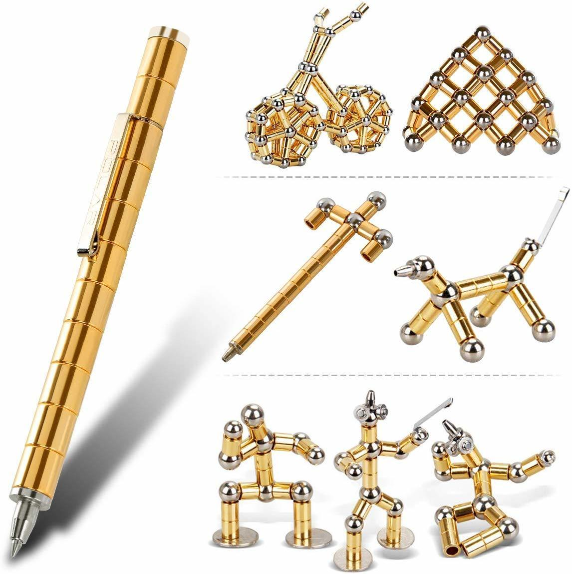 Magnetic Pen Magnets DIY Toys Fidget Toys Casual Stress Relief Gift Gold/Silver