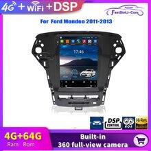 Android oyuncu için Ford Mondeo 2011 2013 yıl dikey büyük ekran GPS multimedya radyo navigasyon sistemi