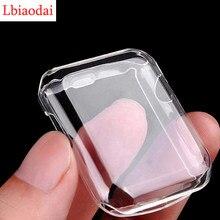 Protetor de tela para apple assista 6 caso 44mm 40mm tpu completa amortecedor iwatch capa 42mm 38mm acessórios para iwatch série 5 4 3 2 1