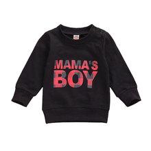 Newborn Baby Boy Girl Sweatshirt Baby Boy Autumn Spring Black White Letter Print Long Sleeve Tops Sweatshirt 0-24M cheap 0-6m 7-12m 13-24m Fashion Microfiber Male Fits true to size take your normal size O-Neck Full