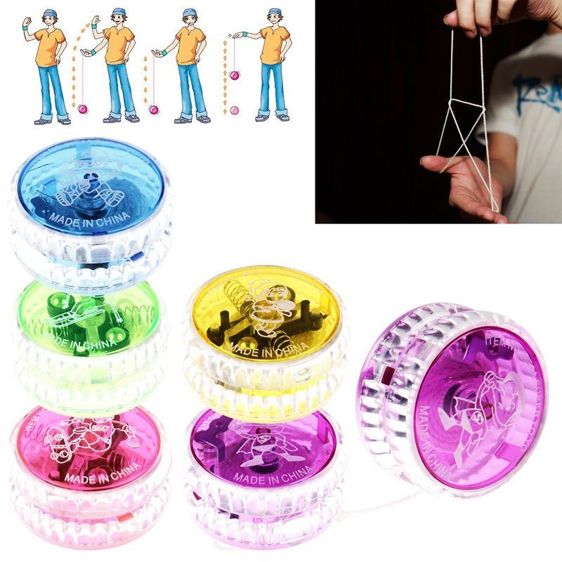 Creative Hobby Magic YoYo LED Light Classic Toys Children Games Yo Yo Professional Practice Juggling Amateur Show Toys Kids Gift