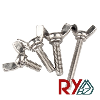 Stainless Steel Butterfly bolt Thumb screw Wing screw Claw bolt M3 M4 M5 M6 M8 M10 m6 m8 m10 din316 butterfly bolt wing bolt set wing nuts claw screw thumbscrew stainless steel
