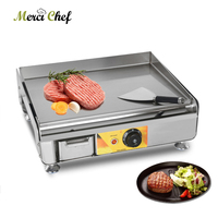 ITOP 2300W Electric Griddle Stainless Steel Hot Plate Steak Fried Pan For Outdoor Electric Pan Grill BBQ Stove Plancha
