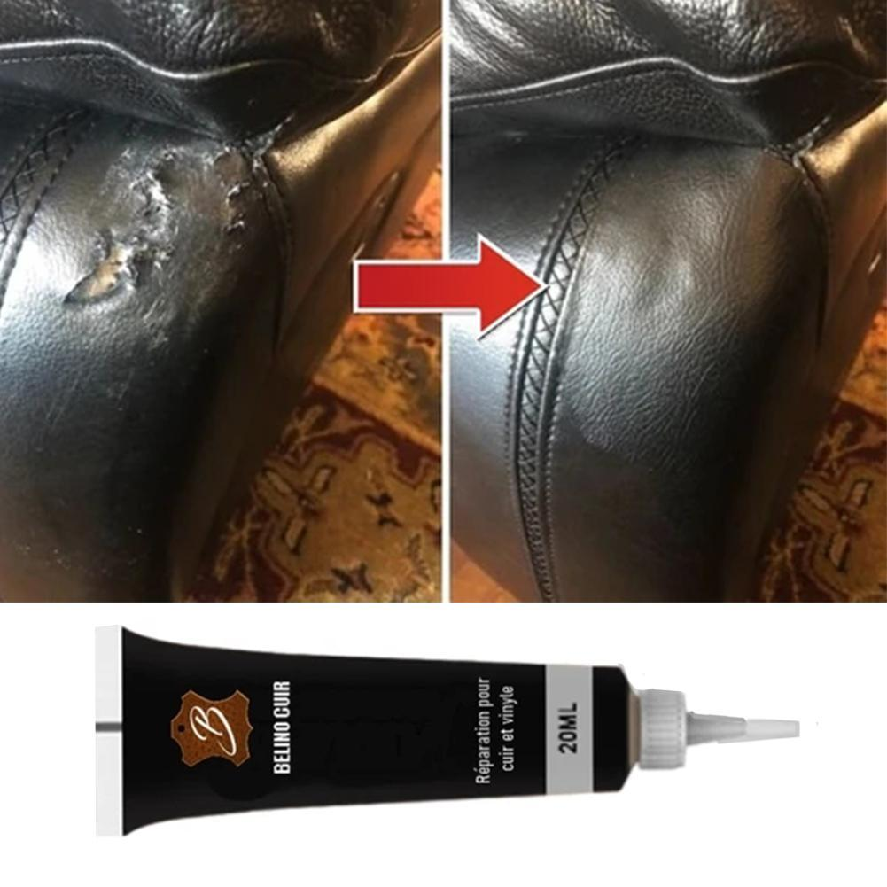1Pc Advanced Leather Repair Gel Seat Home Leather Complementary Color Repair Paste 20Ml No Harm Chemical Leather Cleaner