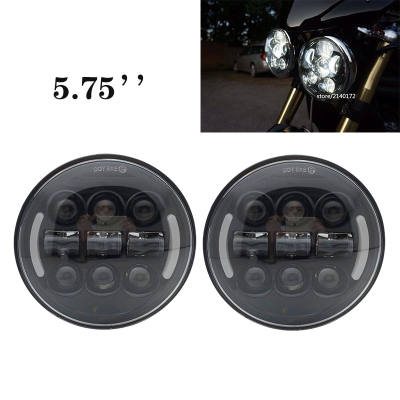 5.75'' headlamp 5.75 inch <font><b>led</b></font> Headlight for triumph speed triple, street triple ,rocket iii 3 roadster,Dyna,forty eight,iron <font><b>883</b></font> image