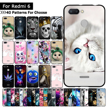 Colorful Animal Cute Case For Mi Xiaomi Redmi 6 Cover TPU Silicone Cases Printing cover for Xiaomi Redmi6 REDMI6 Fundas Shells