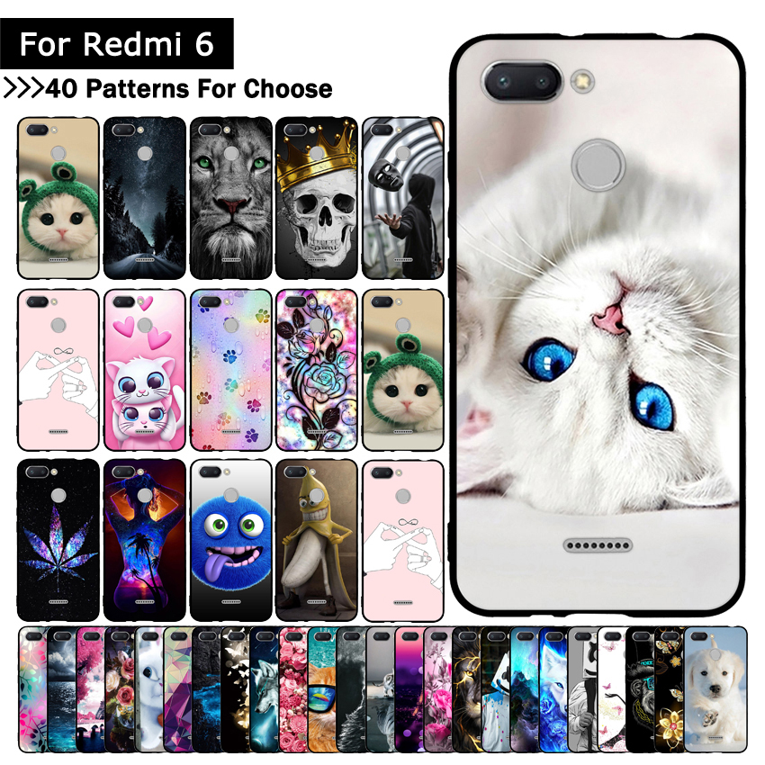 Colorful Animal Cute Case For Mi Xiaomi Redmi 6 Cover TPU Silicone Cases Printing cover for Xiaomi Redmi6 REDMI6 Fundas Shells