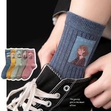 Cotton Women Long Socks 2019 Autumn Breathable Deodorant Winter New Cute Cartoon