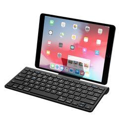 Klawiatura Bluetooth MoKo  bezprzewodowa Ultra cienka klawiatura komputerowa ze zdejmowanym uchwytem na androida  Windows  iOS  telefon  Tablet