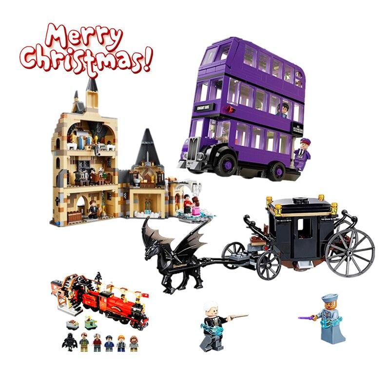 Castle Express Train Building Blocks Castle House Bricks City Creator Compatible Legoinglys  Toys For Children