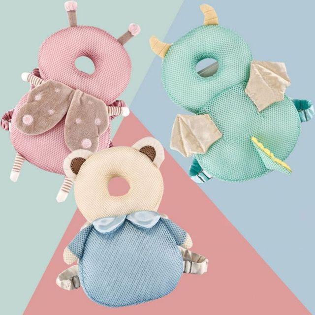 Produtos de segurança do posicionador do sono do bebê criança dos desenhos animados da criança quebra-resistente respirável headrest head crash protection pad cap