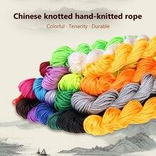 Новинка, распродажа, 19 цветов, нейлоновый шнур, китайский узел, макраме, трещотка, 1 мм* 22 м, Шамбала, веревка для плетения браслетов своими руками