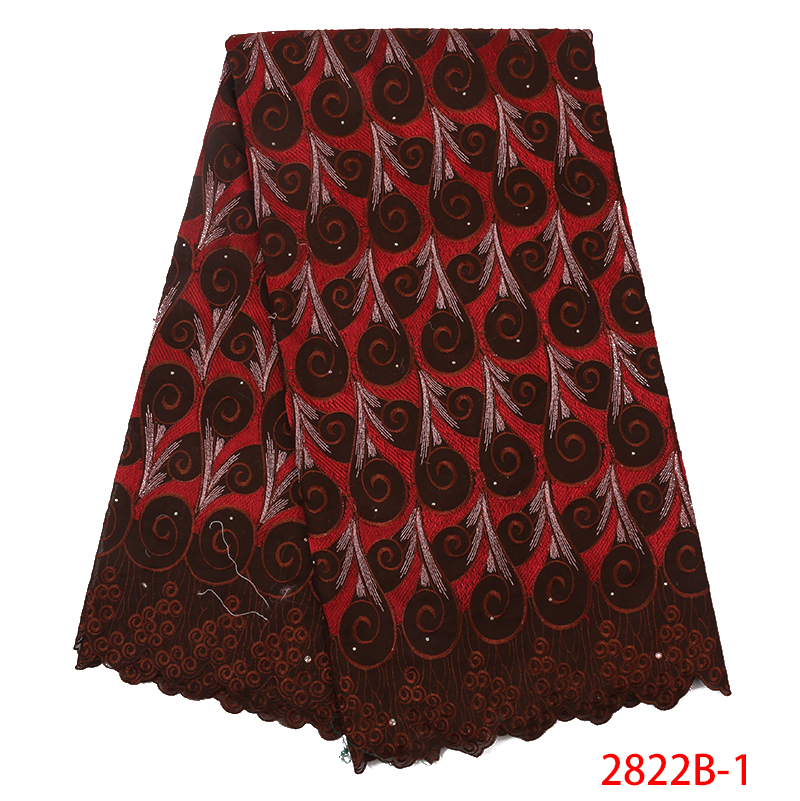 Swiss Voile Lace High Quality,nigerian Lace Fabric 2019 High Quality Lace,african Lace Fabric With Stones For Dresses KS2822B-1