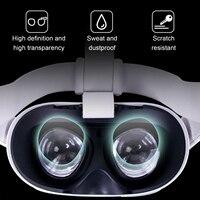 Película protectora de lentes para Oculus Quest 2, accesorios para gafas de realidad virtual, suave, a prueba de sudor, antiarañazos, azul